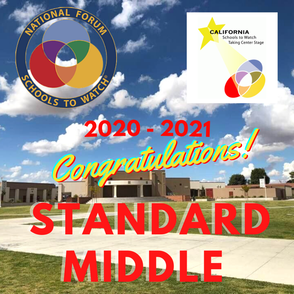 Standard Middle - A School to Watch 2020-2021