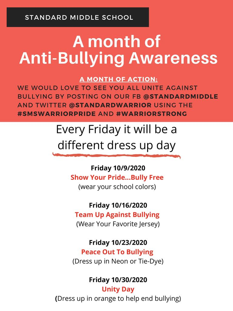 Bully Prevention Month